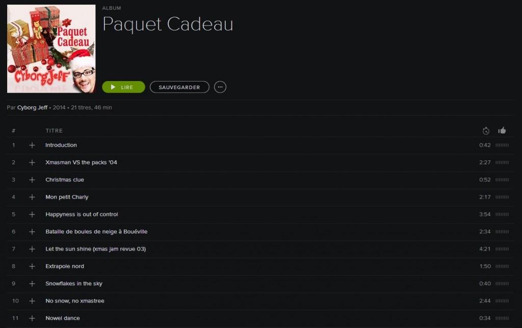 Paquet Cadeau - Spotify