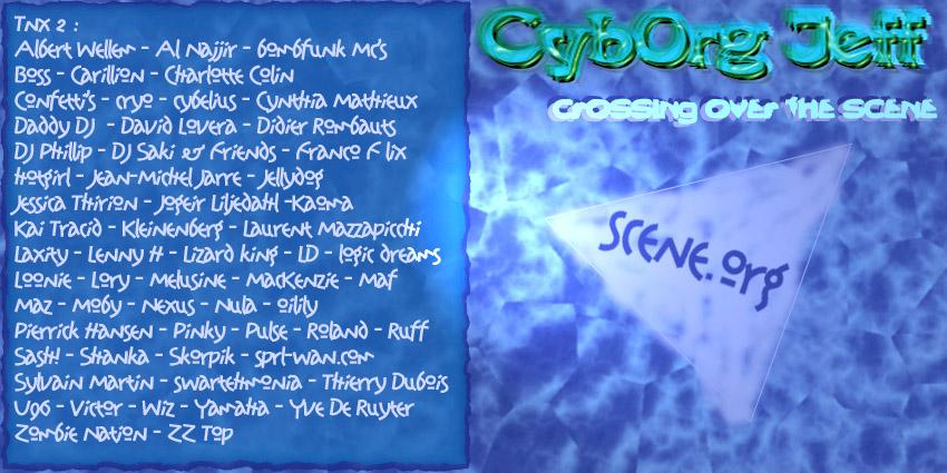 Cyborg Jeff crossing over the scene - album - 2001